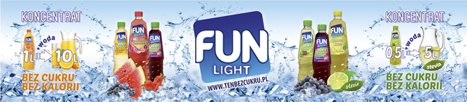 FUN Light, ten bez cukru - napój do rozcieńczania